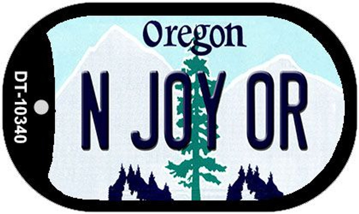 N Joy OR Oregon Wholesale Novelty Metal Dog Tag Necklace DT-10340