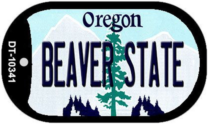 Beaver State Oregon Wholesale Novelty Metal Dog Tag Necklace DT-10341