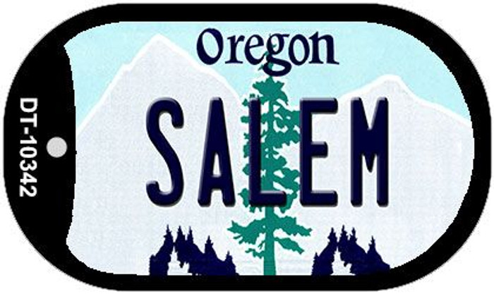 Salem Oregon Wholesale Novelty Metal Dog Tag Necklace DT-10342