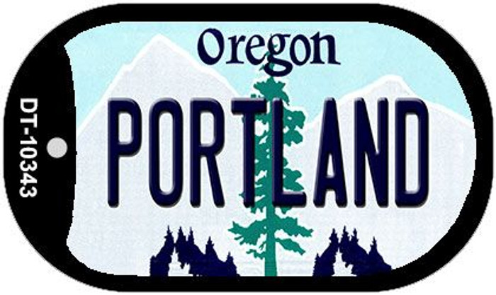 Portland Oregon Wholesale Novelty Metal Dog Tag Necklace DT-10343