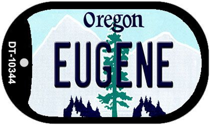 Eugene Oregon Wholesale Novelty Metal Dog Tag Necklace DT-10344