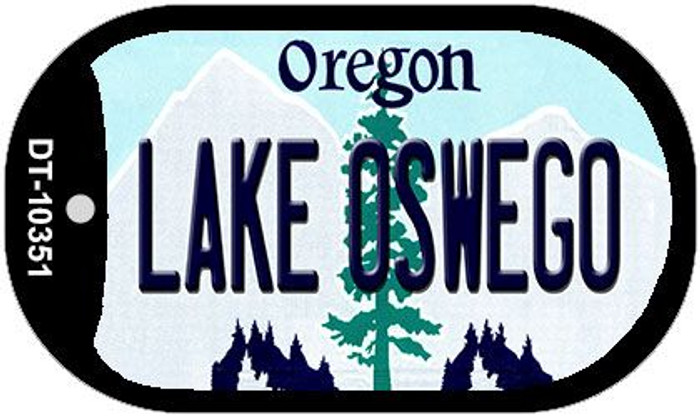 Lake Oswego Oregon Wholesale Novelty Metal Dog Tag Necklace DT-10351