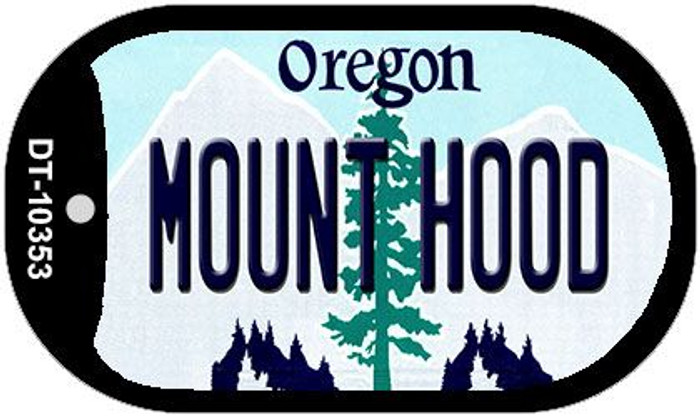 Mount Hood Oregon Wholesale Novelty Metal Dog Tag Necklace DT-10353