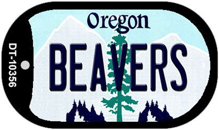 Beavers Oregon Wholesale Novelty Metal Dog Tag Necklace DT-10356