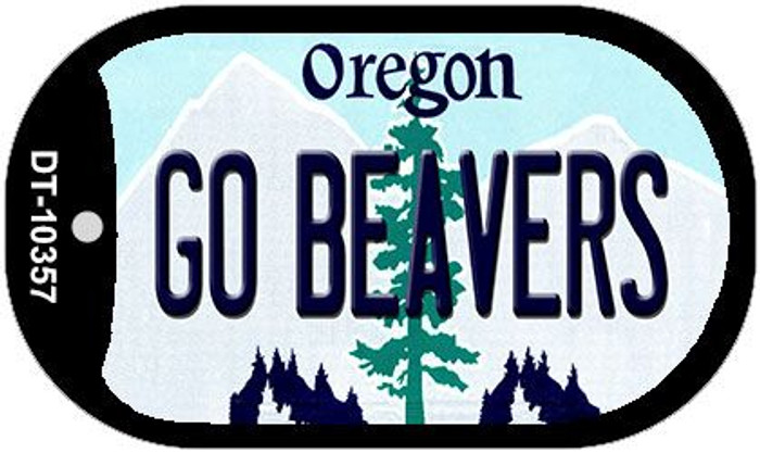Go Beavers Oregon Wholesale Novelty Metal Dog Tag Necklace DT-10357