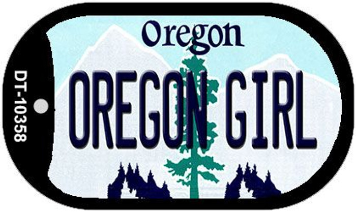 Oregon Girl Wholesale Novelty Metal Dog Tag Necklace DT-10358