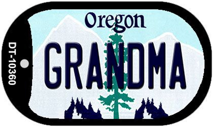 Grandma Oregon Wholesale Novelty Metal Dog Tag Necklace DT-10360
