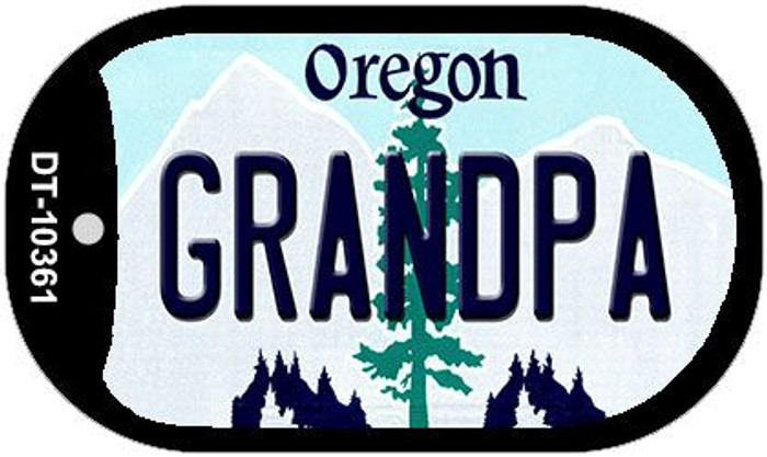 Grandpa Oregon Wholesale Novelty Metal Dog Tag Necklace DT-10361