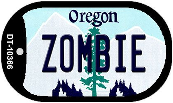Zombie Oregon Wholesale Novelty Metal Dog Tag Necklace DT-10366