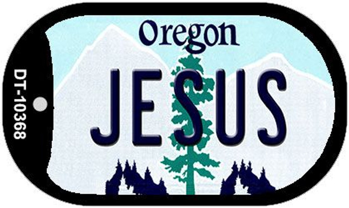 Jesus Oregon Wholesale Novelty Metal Dog Tag Necklace DT-10368