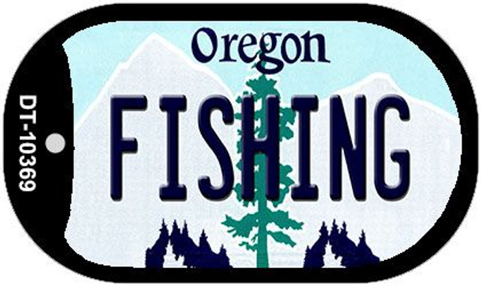 Fishing Oregon Wholesale Novelty Metal Dog Tag Necklace DT-10369