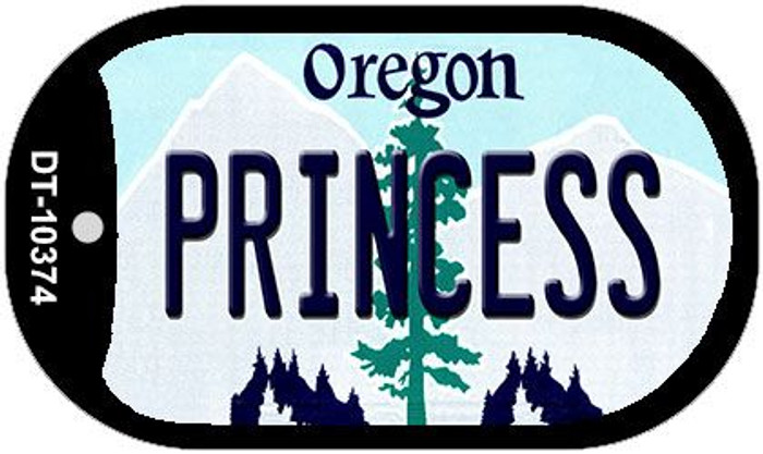 Princess Oregon Wholesale Novelty Metal Dog Tag Necklace DT-10374