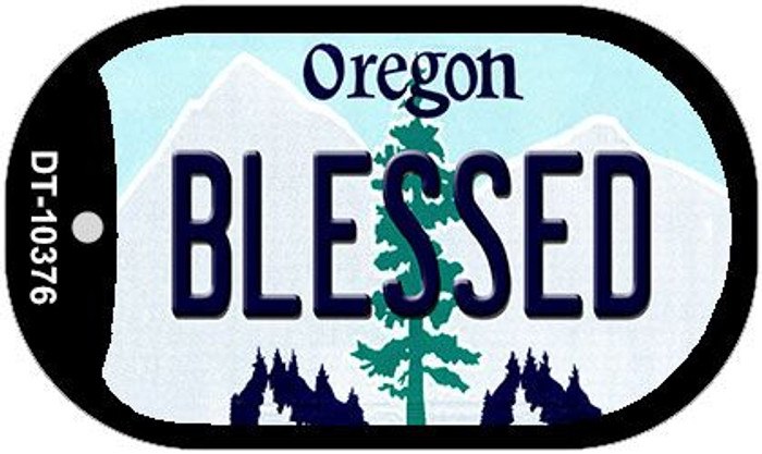 Blessed Oregon Wholesale Novelty Metal Dog Tag Necklace DT-10376