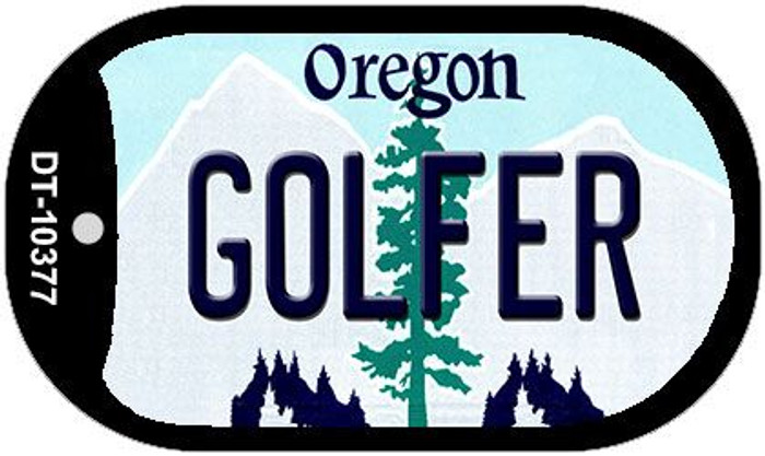Golfer Oregon Wholesale Novelty Metal Dog Tag Necklace DT-10377
