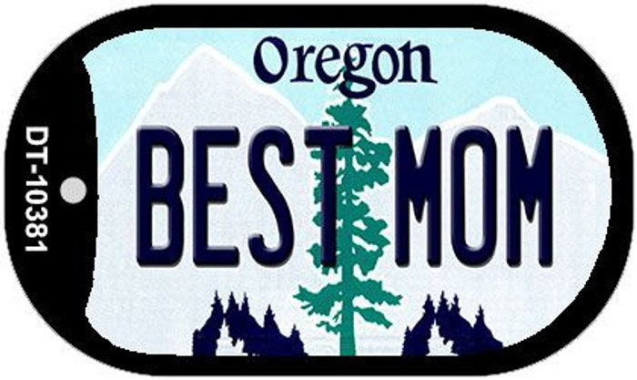 Best Mom Oregon Wholesale Novelty Metal Dog Tag Necklace DT-10381