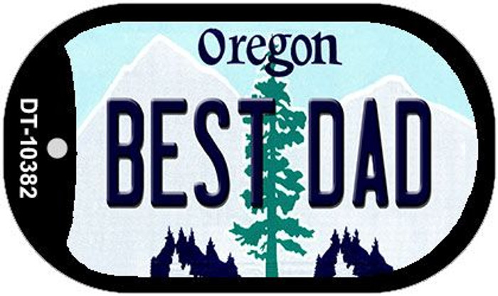 Best Dad Oregon Wholesale Novelty Metal Dog Tag Necklace DT-10382