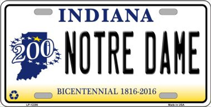 Notre Dame Indiana Wholesale Novelty Metal License Plate LP-12206