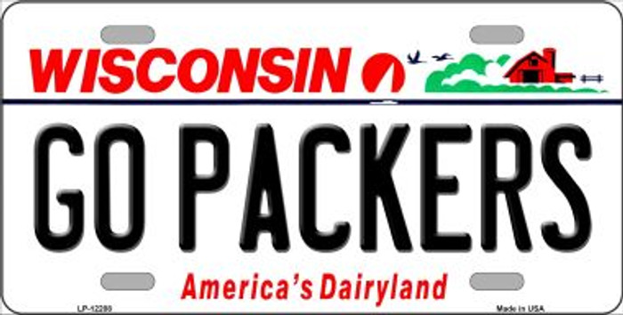 Go Packers Wisconsin Wholesale Novelty Metal License Plate LP-12208