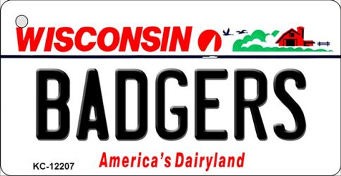 Badgers Wisconsin Wholesale Novelty Metal Key Chain KC-12207