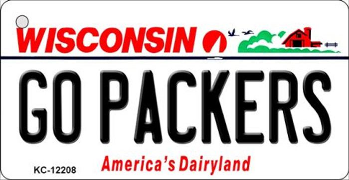 Go Packers Wisconsin Wholesale Novelty Metal Key Chain KC-12208