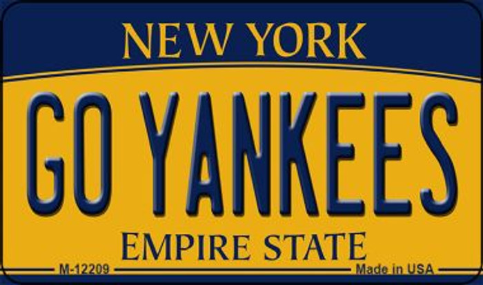 Go Yankees New York Wholesale Novelty Metal Magnet M-12209