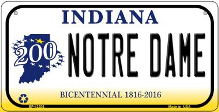 Notre Dame Indiana Wholesale Novelty Metal Bicycle Plate BP-12206