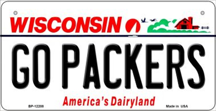 Go Packers Wisconsin Wholesale Novelty Metal Bicycle Plate BP-12208
