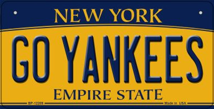Go Yankees New York Wholesale Novelty Metal Bicycle Plate BP-12209