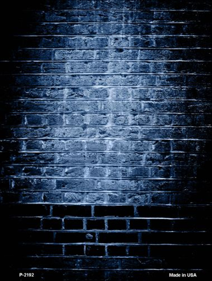 Blue Brick Wall Wholesale Metal Novelty Parking Sign P-2192