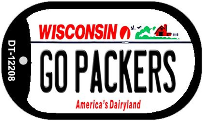 Go Packers Wisconsin Wholesale Novelty Metal Dog Tag Necklace DT-12208