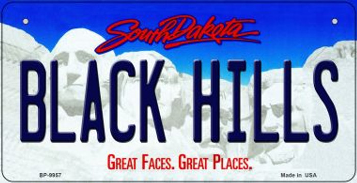 Black Hills South Dakota Wholesale Novelty Metal Bicycle Plate BP-9957