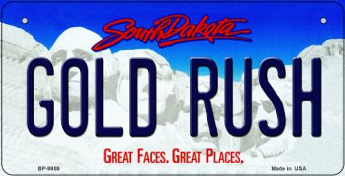 Gold Rush South Dakota Wholesale Novelty Metal Bicycle Plate BP-9959