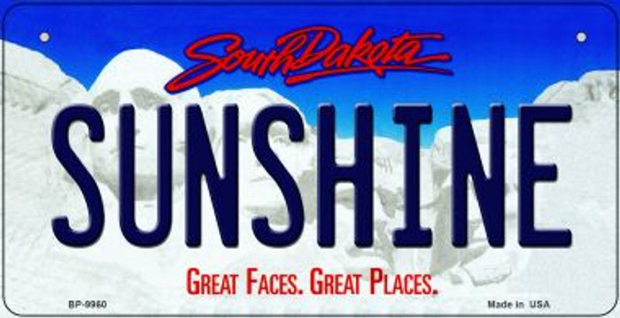 Sunshine South Dakota Wholesale Novelty Metal Bicycle Plate BP-9960