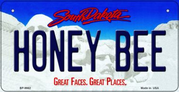 Honey Bee South Dakota Wholesale Novelty Metal Bicycle Plate BP-9962