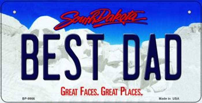 Best Dad South Dakota Wholesale Novelty Metal Bicycle Plate BP-9966
