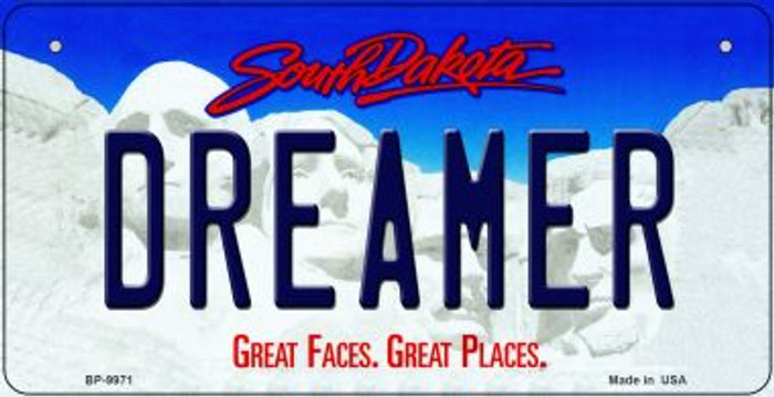 Dreamer South Dakota Wholesale Novelty Metal Bicycle Plate BP-9971