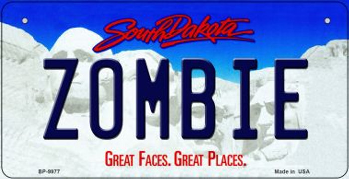 Zombie South Dakota Wholesale Novelty Metal Bicycle Plate BP-9977