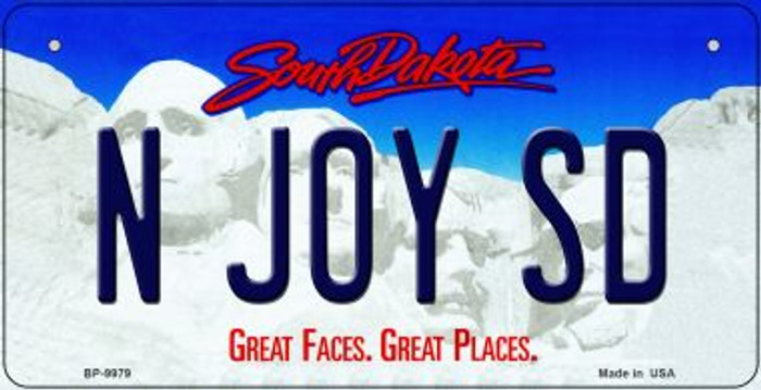 N Joy SD South Dakota Wholesale Novelty Metal Bicycle Plate BP-9979