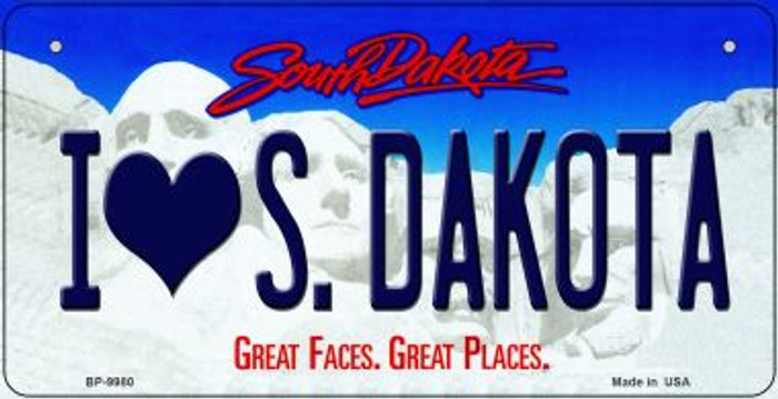 I Love South Dakota Wholesale Novelty Metal Bicycle Plate BP-9980