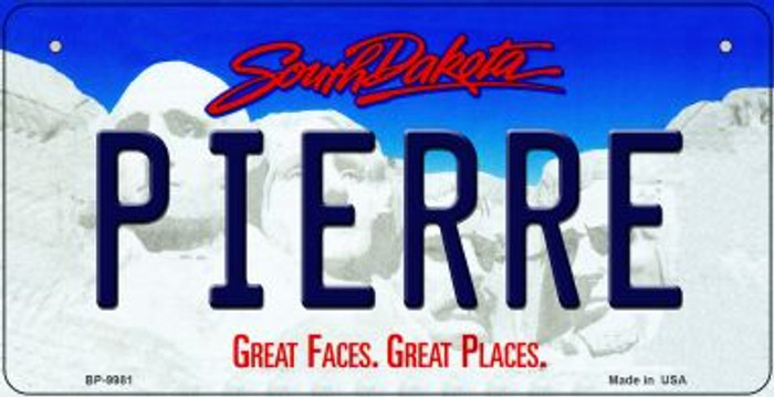 Pierre South Dakota Wholesale Novelty Metal Bicycle Plate BP-9981