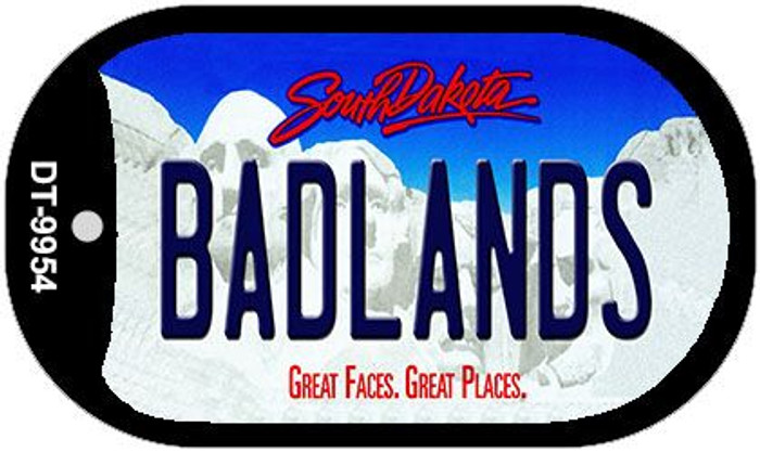 Badlands South Dakota Wholesale Novelty Metal Dog Tag Necklace DT-9954