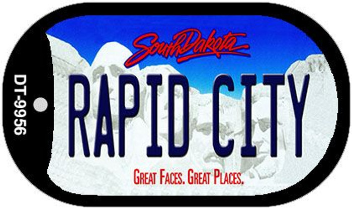 Rapid City South Dakota Wholesale Novelty Metal Dog Tag Necklace DT-9956