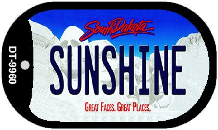 Sunshine South Dakota Wholesale Novelty Metal Dog Tag Necklace DT-9960