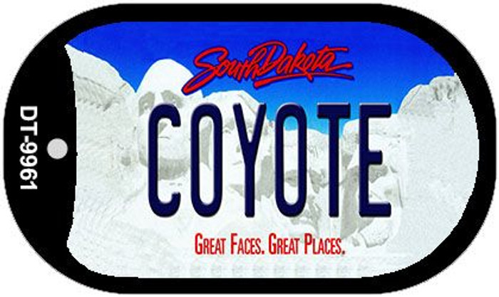 Coyote South Dakota Wholesale Novelty Metal Dog Tag Necklace DT-9961