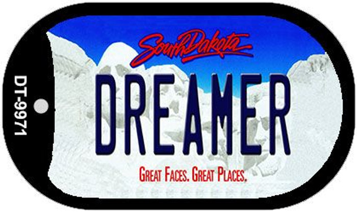 Dreamer South Dakota Wholesale Novelty Metal Dog Tag Necklace DT-9971