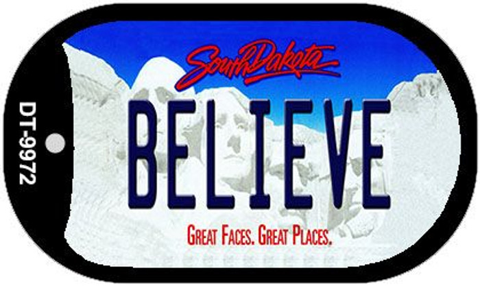 Believe South Dakota Wholesale Novelty Metal Dog Tag Necklace DT-9972