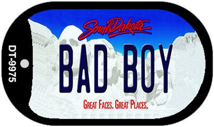 Bad Boy South Dakota Wholesale Novelty Metal Dog Tag Necklace DT-9975