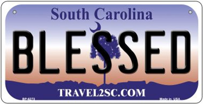 Blessed South Carolina Wholesale Novelty Metal Bicycle Plate BP-6273