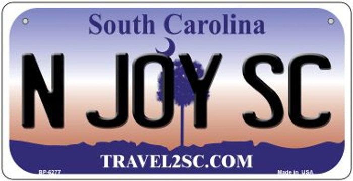 N Joy SC South Carolina Wholesale Novelty Metal Bicycle Plate BP-6277