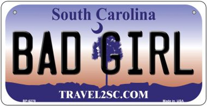 Bad Girl South Carolina Wholesale Novelty Metal Bicycle Plate BP-6278